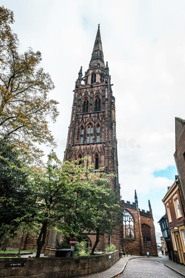 Cathedral Church of St Michael in Coventry, England stock image