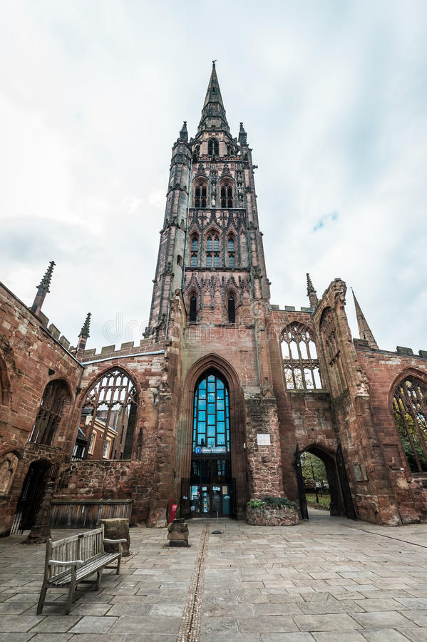 Cathedral Church of St Michael in Coventry, England stock photos