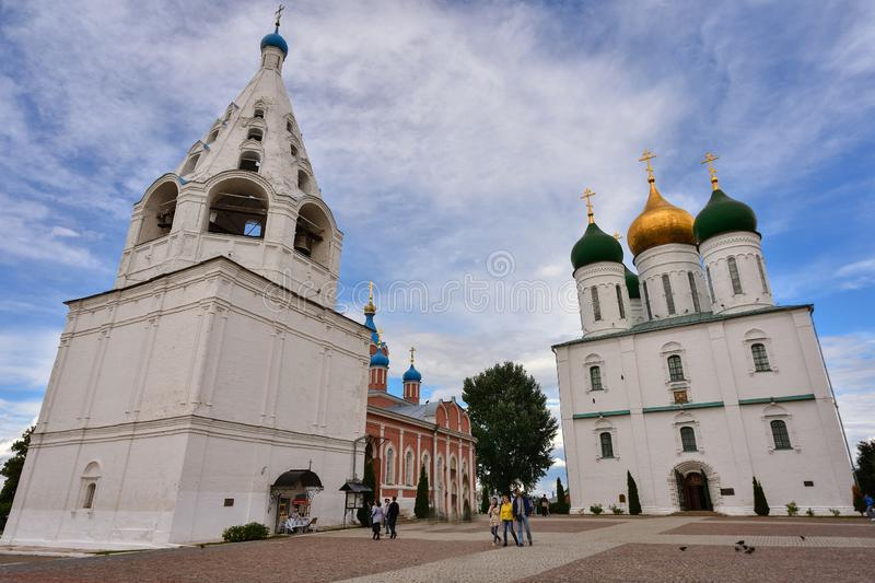 Cathedral in city of Kolomna on Cathedral Square of the Kolomna Kremlin stock images