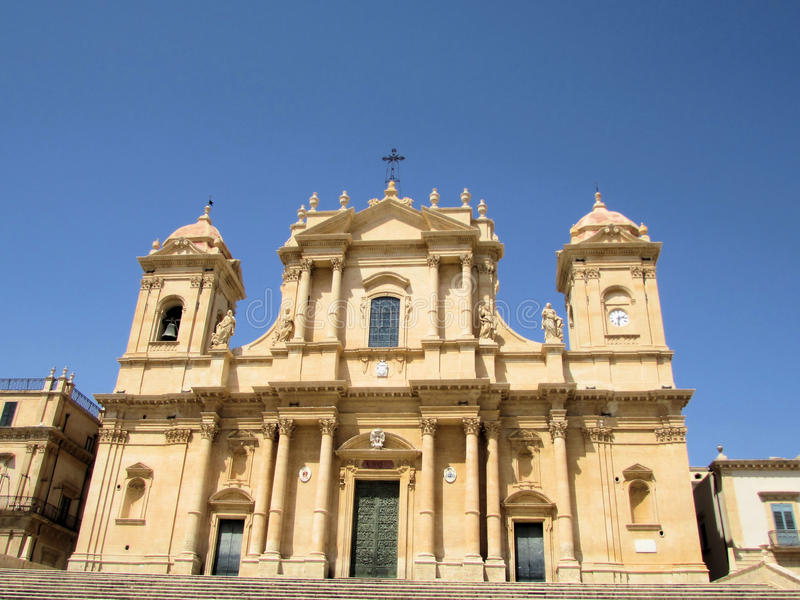 Cathedral city of Noto stock photos