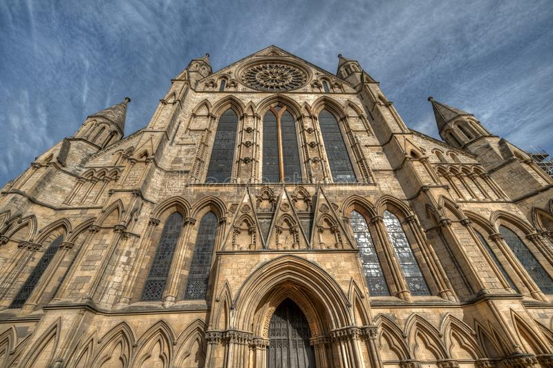 Cathedral of the city of York in United Kingdom.  royalty free stock photos