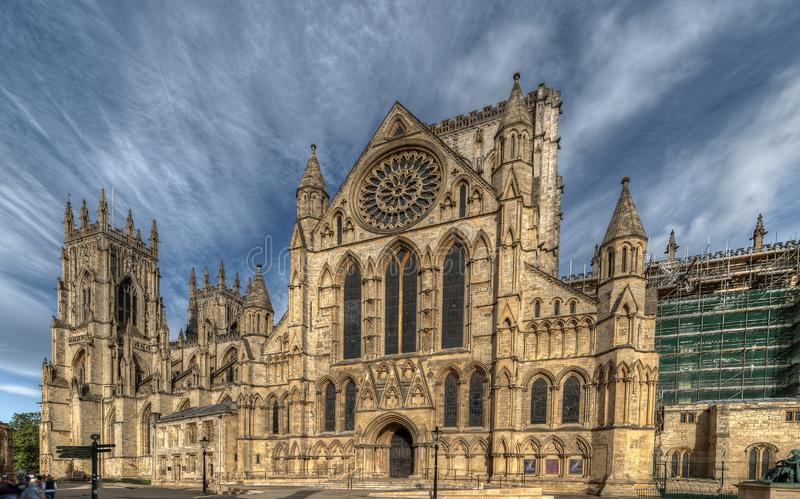Cathedral of the city of York in United Kingdom. England royalty free stock photo