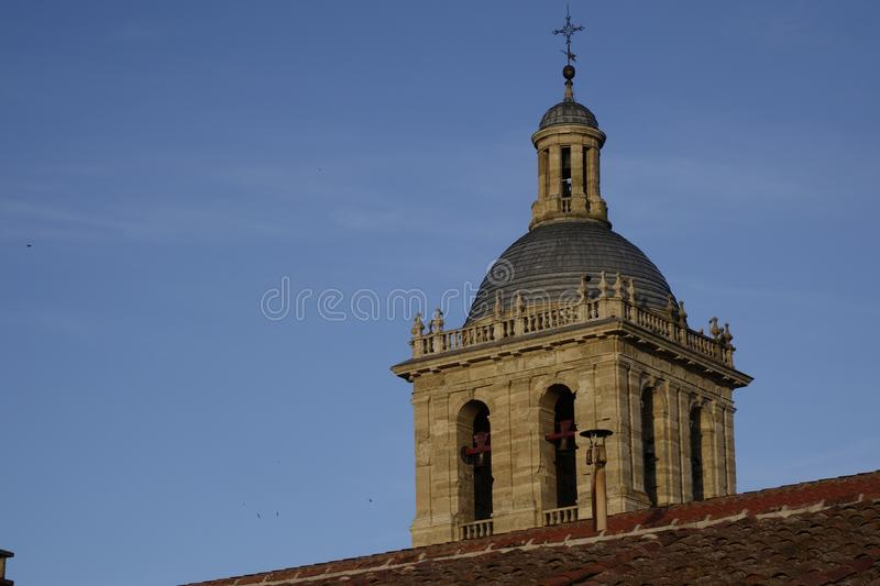 Cathedral of Ciudad Rodrigo. The site of Ciudad Rodrigo, perched atop a rocky rise on the right bank of the River Águeda, has been occupied since the royalty free stock image