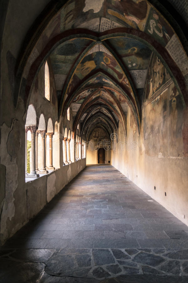 Download Cathedral Cloister With The Frescoed Wall. Editorial Photo - Image of romanic, holy: 83723896