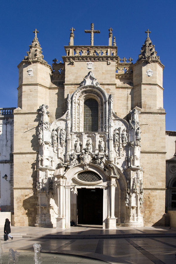 Cathedral of Coimbra, Portugal stock photos