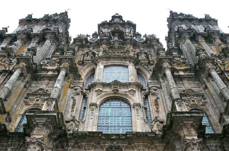 cathedral compostela de facade圣地亚哥 库存图片