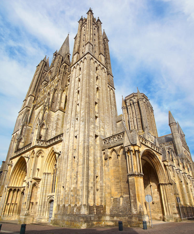 Cathedral In Coutances, France Royalty Free Stock Photo