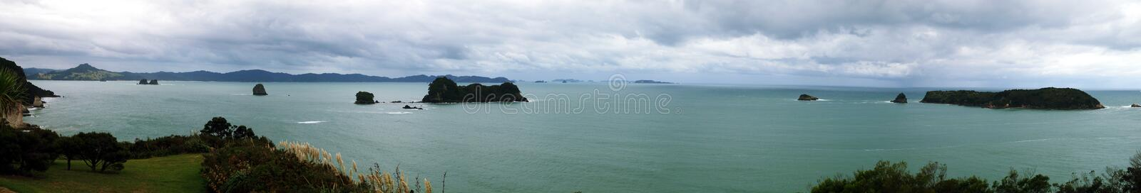 Cathedral Cove Coastline Royalty Free Stock Images