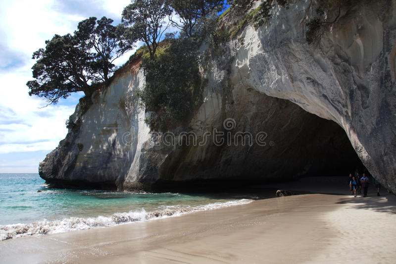 Cathedral Cove, Coromandel Peninsula, New Zealand royalty free stock photo