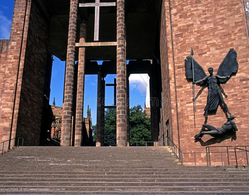 Cathedral, Coventry, England. stock photos