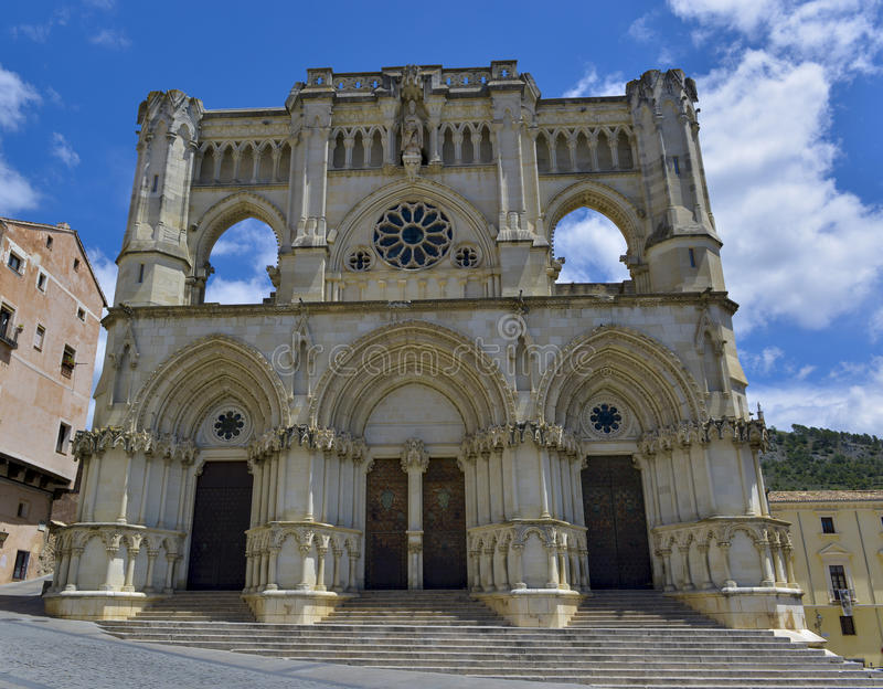 Cathedral of cuenca royalty free stock photo
