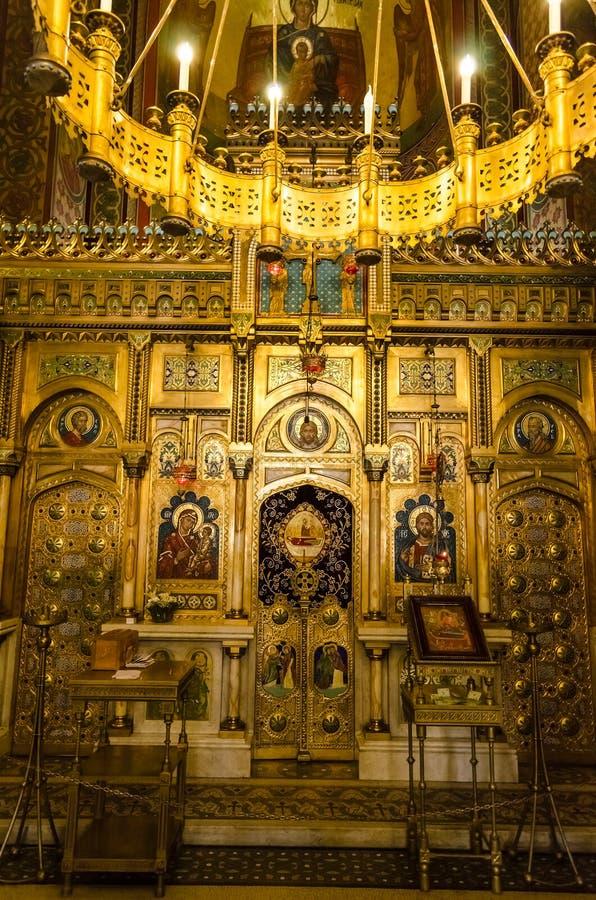 The Cathedral of Curtea de Arges stock photos