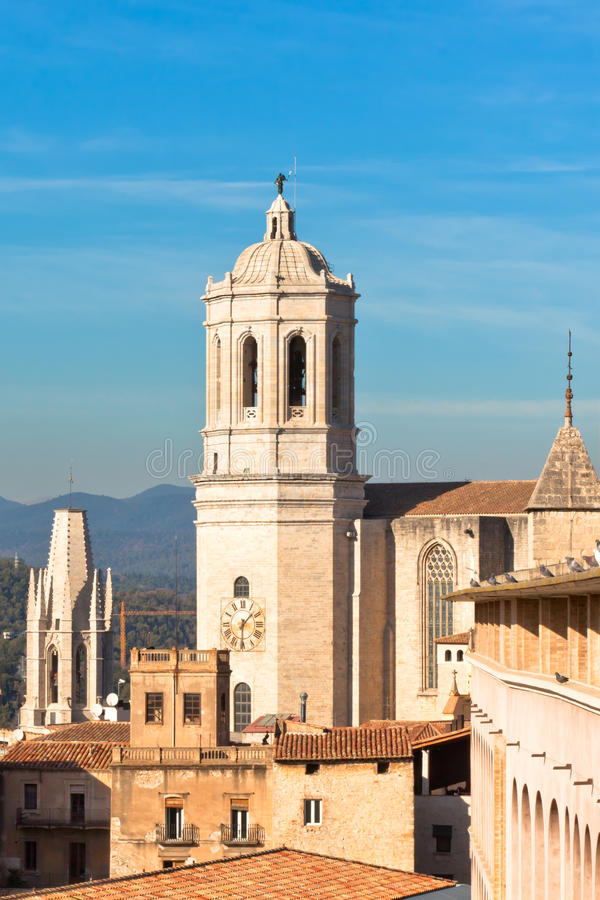 Download Cathedral De Girona stock photo. Image of blue, multi - 21020846