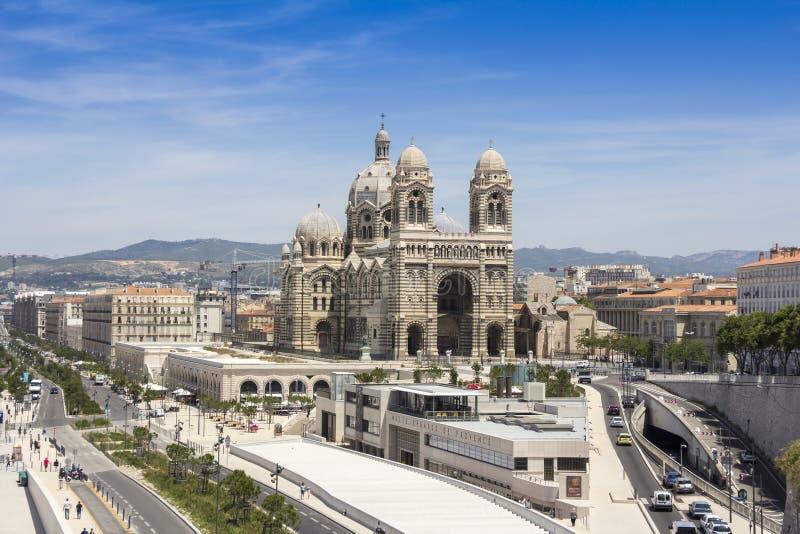 Cathedral De La Major en Marsella fotos de archivo libres de regalías