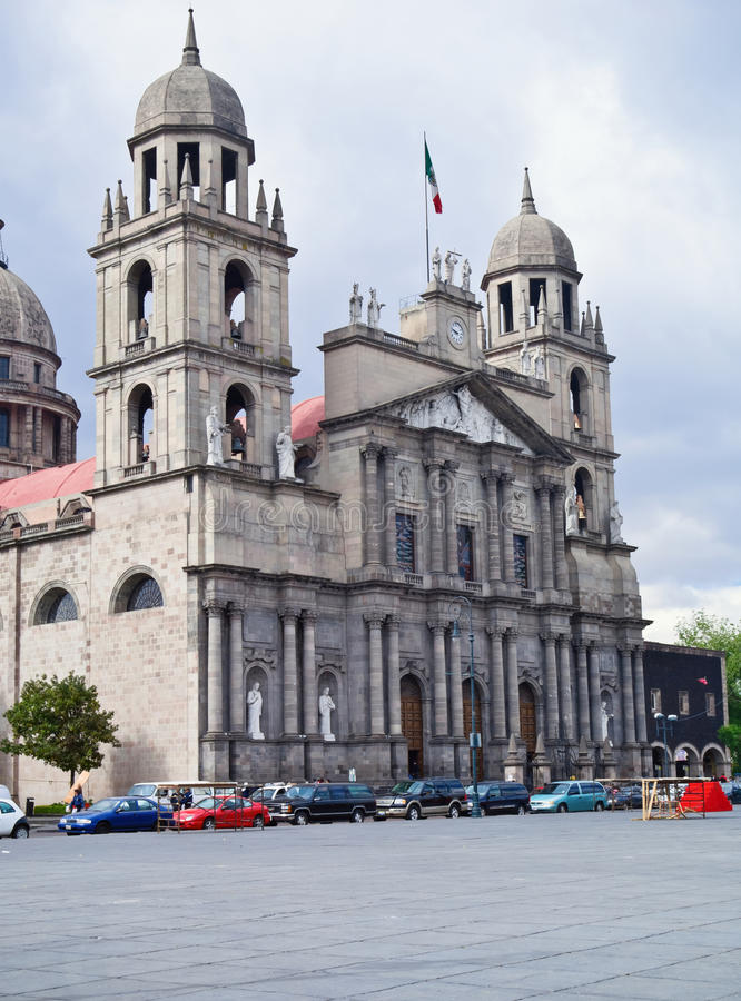 cathedral de lerdo Μεξικό δίδυμο πύργων toluca στοκ εικόνες με δικαίωμα ελεύθερης χρήσης