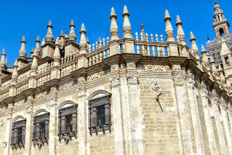 Cathedral de Santa MarÃa de Λα Sede στη Σεβίλη, Ανδαλουσία, Ισπανία στοκ εικόνες