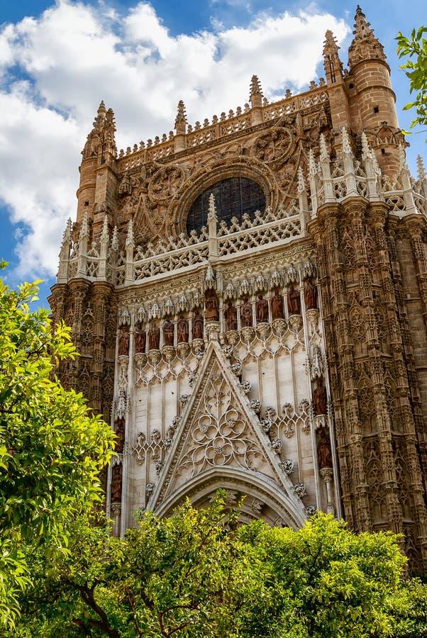 Cathedral DE Santa MarÃa DE La Sede in Sevilla, Andalucia, Spanje stock foto's