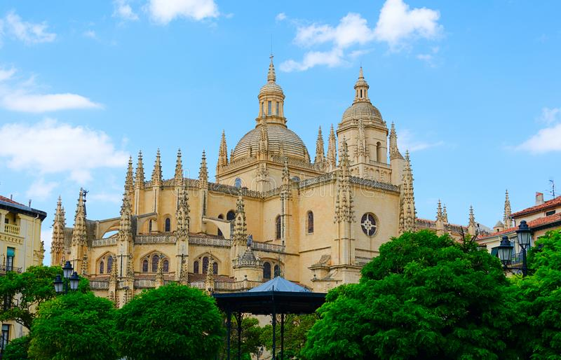 Cathedral de Santa Maria de Segovia in the historic city of Segovia, Castilla y Leon, Spain royalty free stock photos
