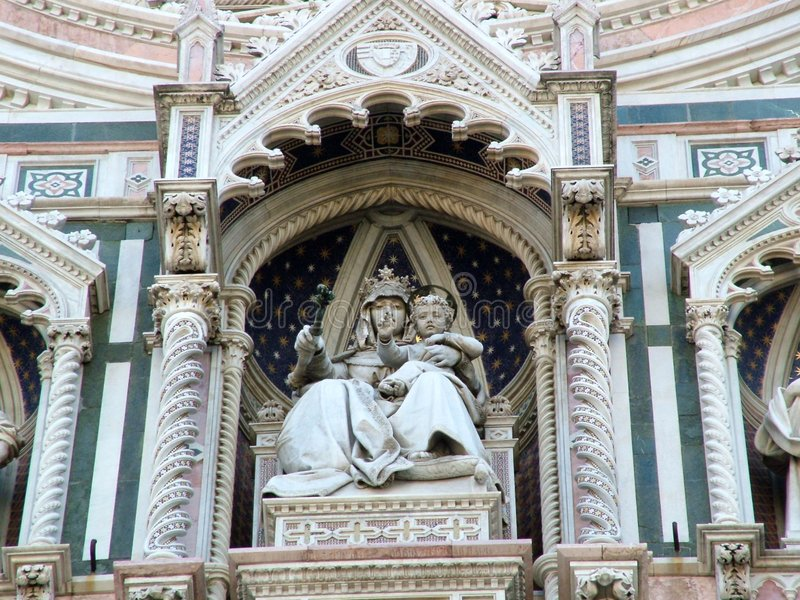 cathedral del fiori玛丽亚・圣诞老人 免版税库存图片
