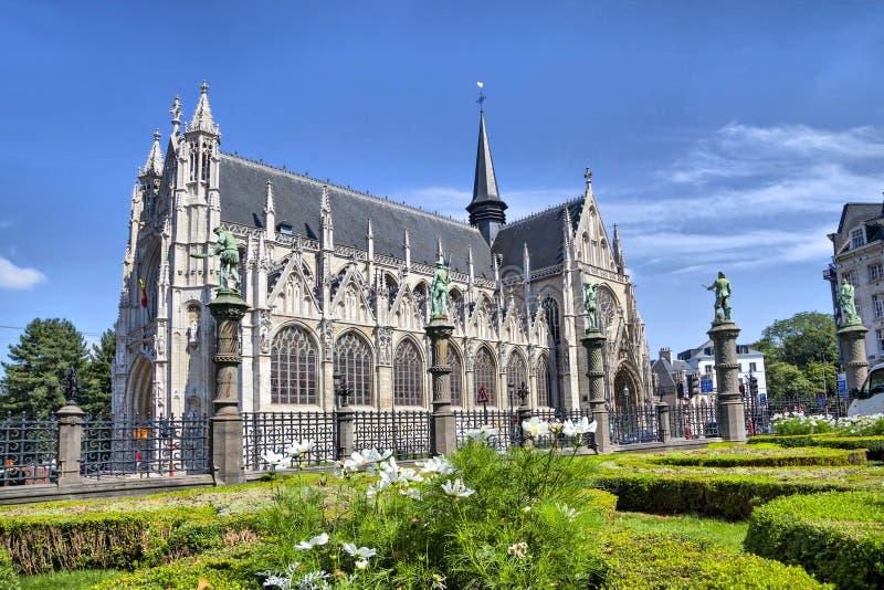 Cathedral di Notre Dame du Sablon immagine stock libera da diritti
