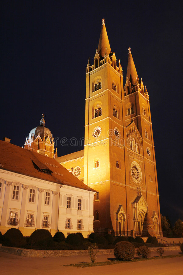 Cathedral in Djakovo, Croatia royalty free stock images