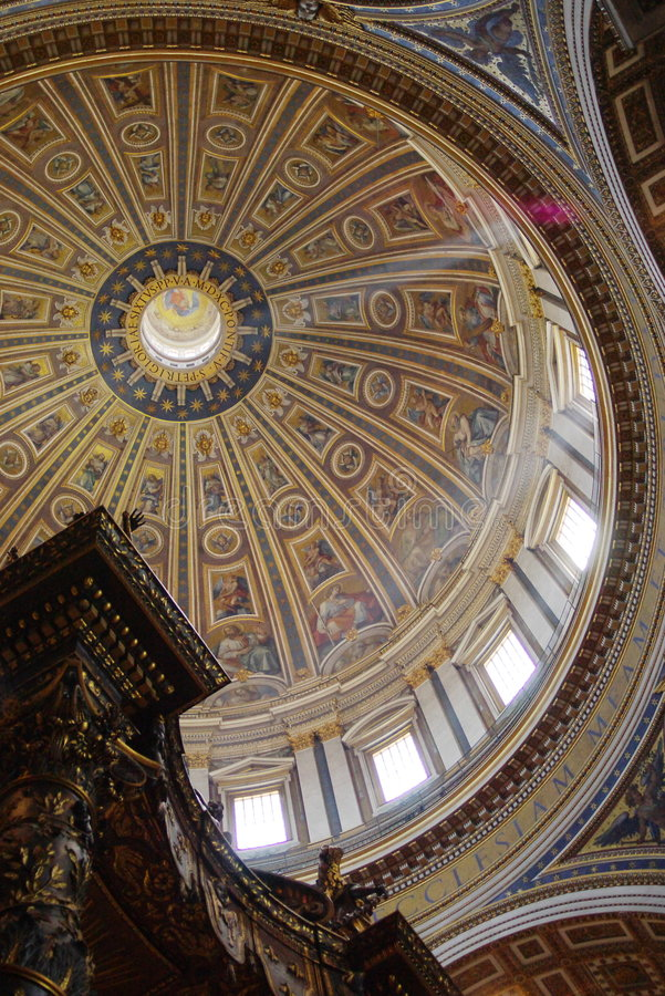 Free Cathedral Dome Inside Royalty Free Stock Photo - 2411385