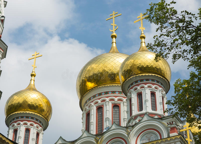 Cathedral dome in the Shipka Monastery in Bulgaria stock images