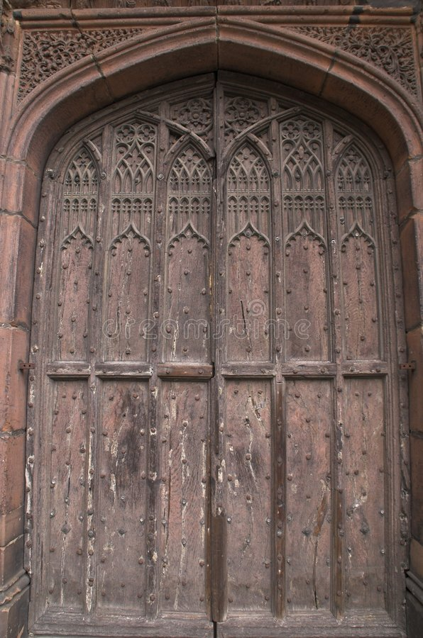Cathedral doors & Cathedral doors stock image. Image of segmented carved - 958961