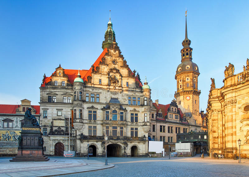 Cathedral in Dresden; Germany, Europe.  royalty free stock photography