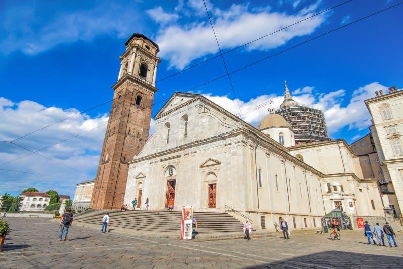 The Cathedral duomo San Giovanni Battista of Turin, Italy. royalty free stock photos