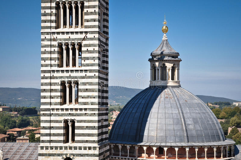 Cathedral Duomo of Tuscan city Siena royalty free stock photos