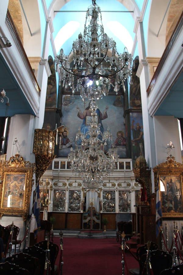 Cathedral of Eisodion tis Theotokou, Chania, Crete. Greece stock images