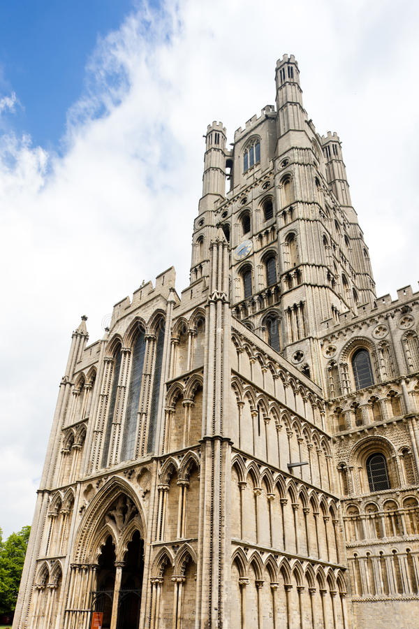 Cathedral of Ely. In East Anglia, England royalty free stock photo