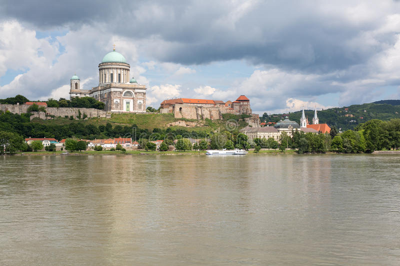 Cathedral in Esztergom. Town on Danube river royalty free stock photo