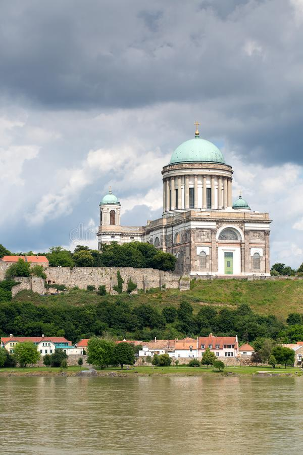 Cathedral in Esztergom. Town on Danube river stock photos