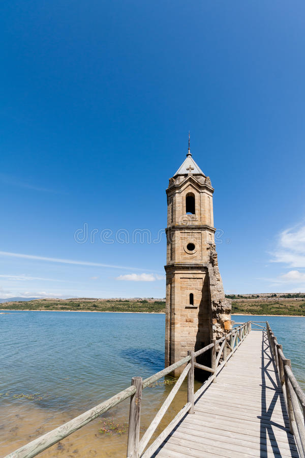 Cathedral of the Fishes. The Cathedral of the Fishes (Church of Las Rozas de Valdearroyo) on the Ebro's Reservoir. Cantabria (Spain stock photo