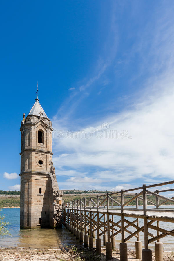 Cathedral of the Fishes. The Cathedral of the Fishes (Church of Las Rozas de Valdearroyo) on the Ebro's Reservoir. Cantabria (Spain stock images