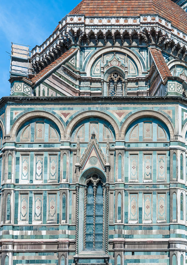 Cathedral of Florence,architectural detail,Italy royalty free stock photos