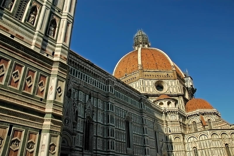 The Cathedral of Florence Italy. The Church of Santa Maria di Fiori in Florence Tuscany Italy stock photography