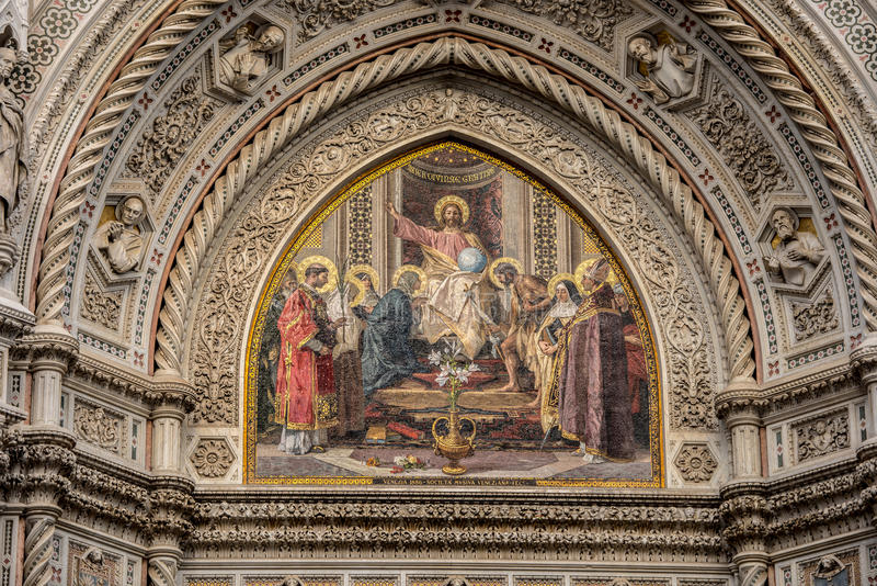 Cathedral in Florence, Italy stock photography