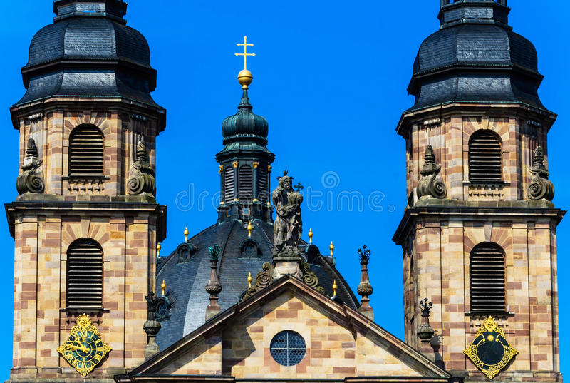 Cathedral in Fulda, Germany. Famous baroque Cathedral in historic Fulda, Germany stock photos
