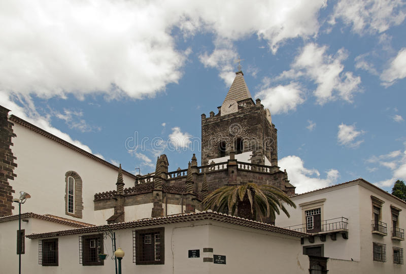 Cathedral of Funchal royalty free stock photo