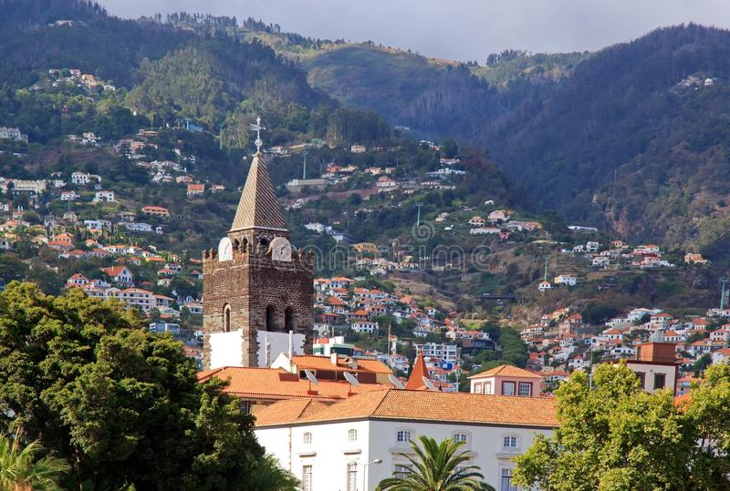 Cathedral of Funchal (Madeira) stock photography
