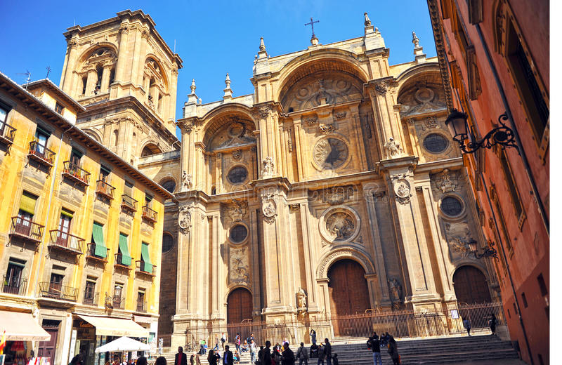 The Cathedral of Granada, Andalusia, Spain royalty free stock photos