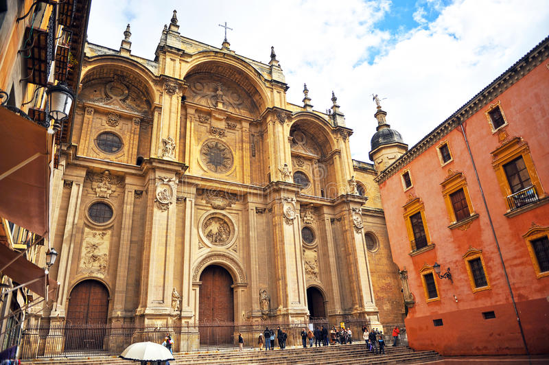 The Cathedral of Granada, Andalusia, Spain royalty free stock photography