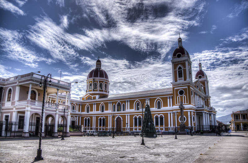Cathedral of Granada, Nicaragua stock image