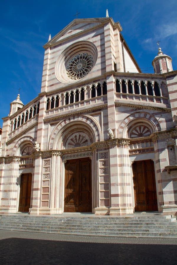 Cathedral of Grosseto 01. Cathedral of Grosseto, three-quarter view stock images