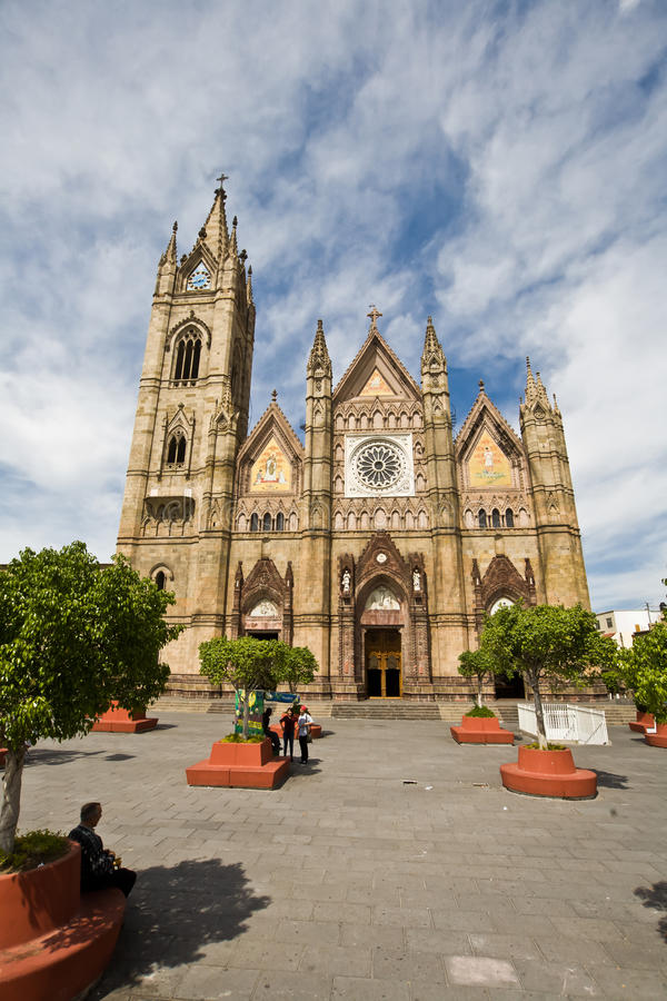Cathedral in Guadalajara Mexico royalty free stock photography