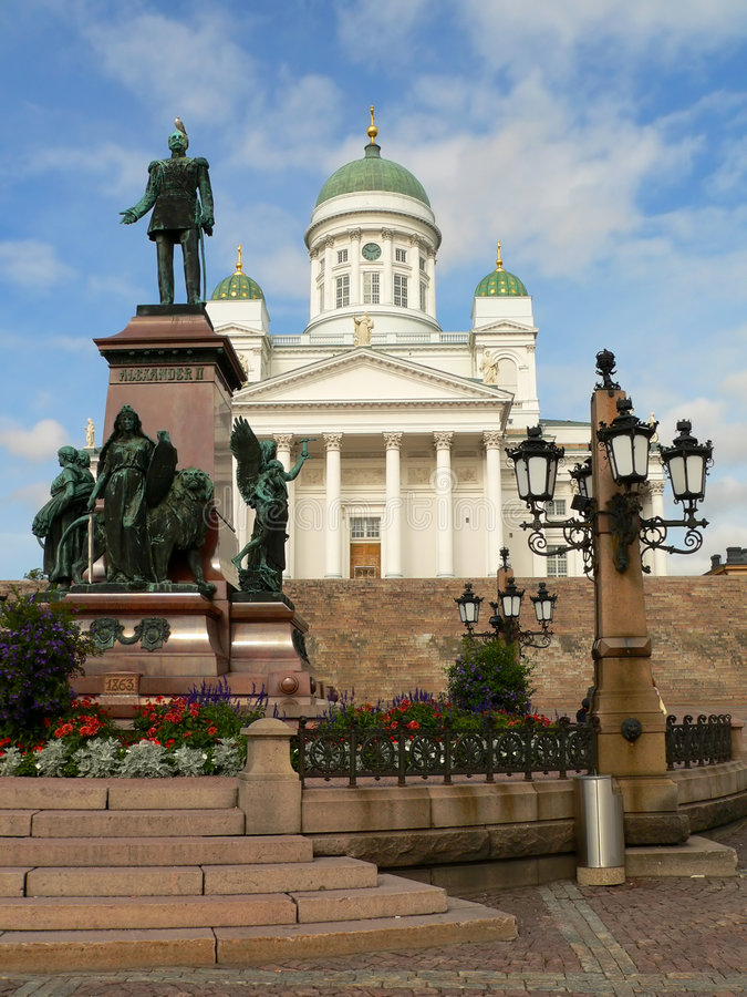 Cathedral in Helsinki royalty free stock image