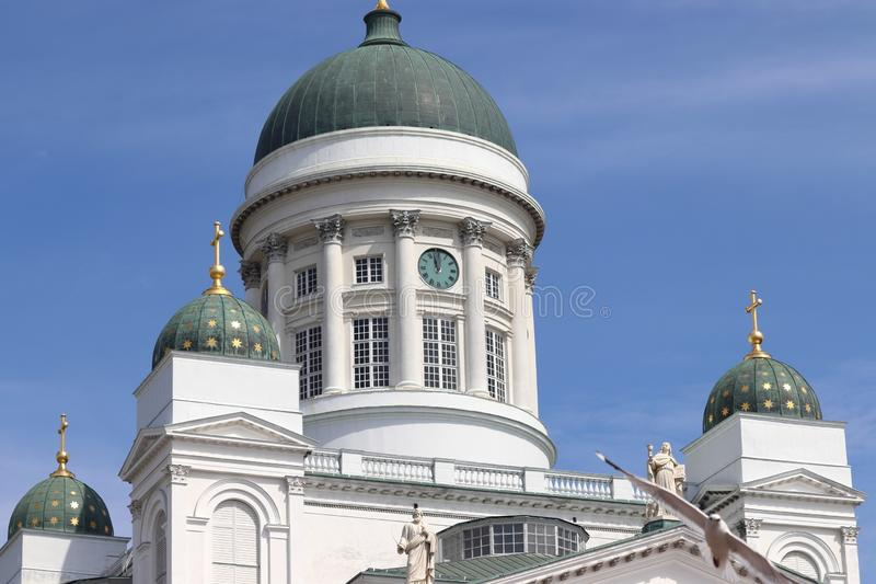 Cathedral of Helsinki in Finland on holiday. stock photos